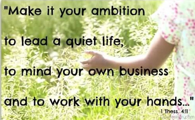 Mind Your Own Business Quote 31 Wise Minding Your Own